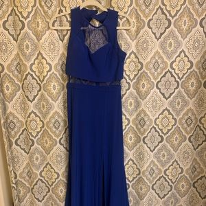 PRICE⬇️ Blue Formal / Prom Dress with sheer panel